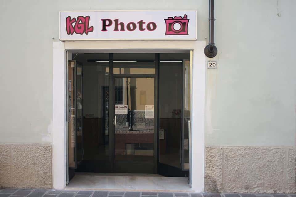 Kgl negozio di fotografia imprese rosa