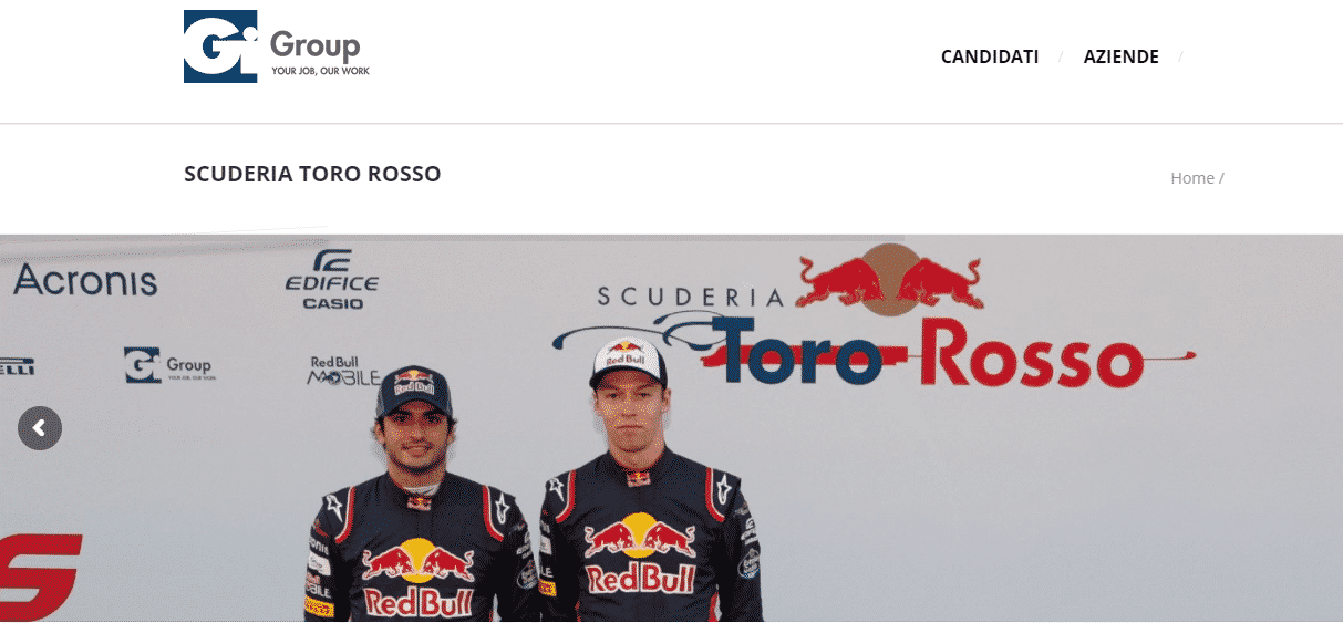 Lavorare in Formula 1