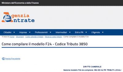codice tributo 3850