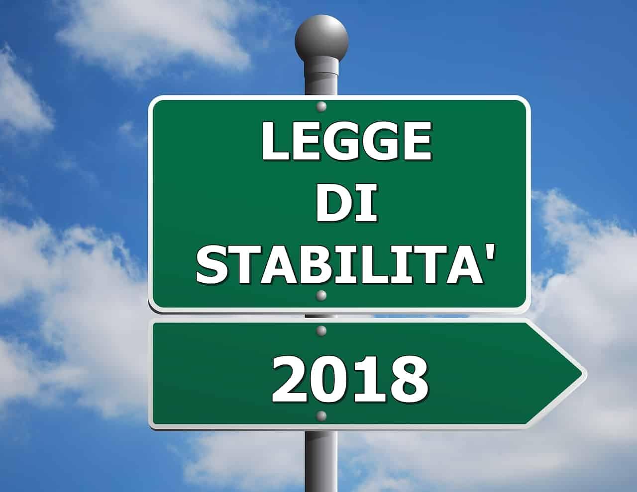 legge di stabilità 2018