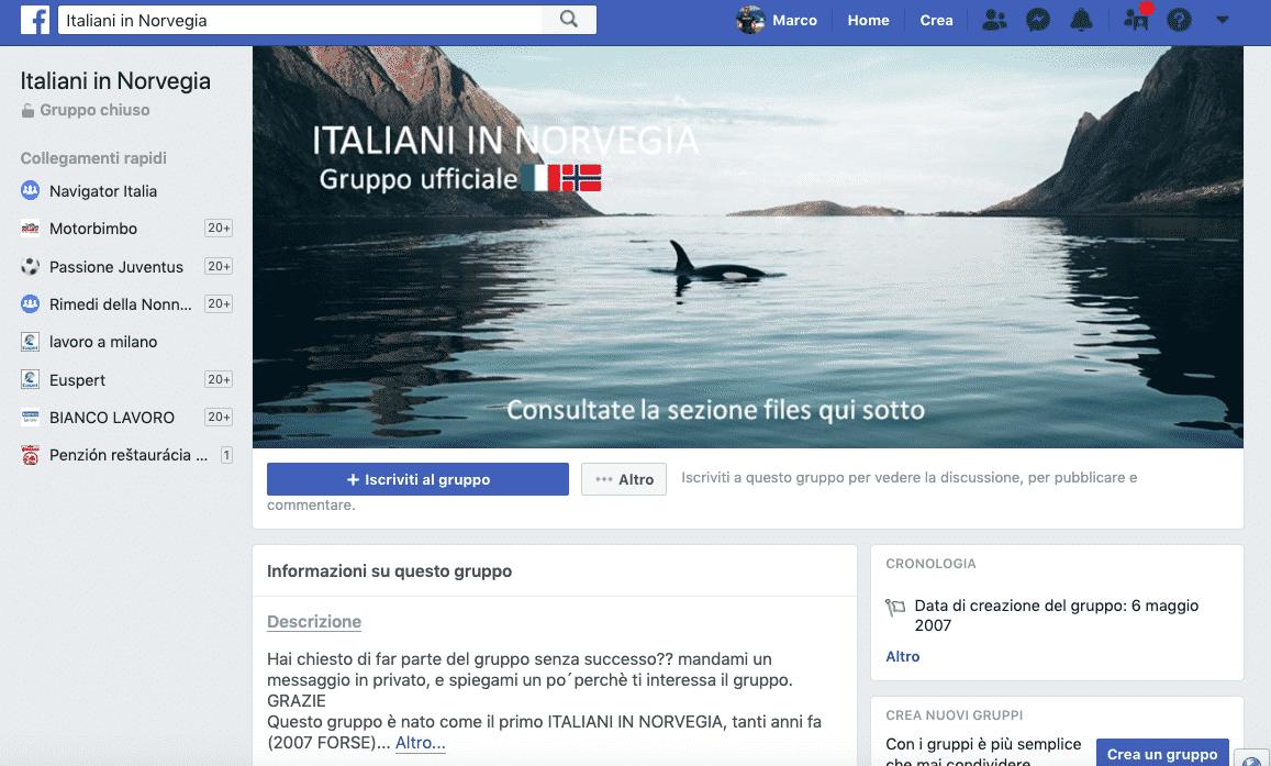 facebook norvegia