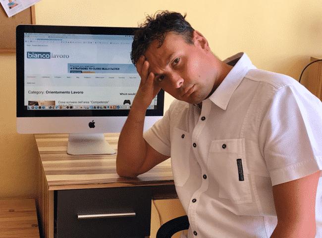 superare la delusione di un rifiuto al lavoro
